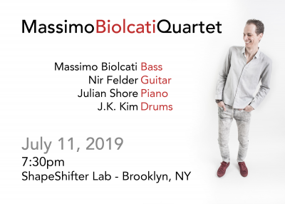 Massimo Biolcati Quartet at ShapeShifter Lab