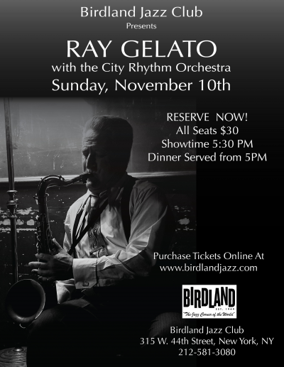 Ray Gelato With The City Rhythm Orchestra at Birdland