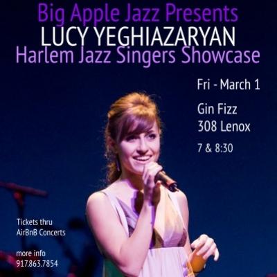 Harlem Jazz Singers Showcase: Lucy Yeghiazaryan at Gin Fizz Harlem