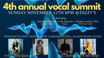 4th Annual Vocal Summit Ft Rebecca Jade, Leonard Patton, Rosemary Watson, Allison Adams Tucker at Dizzy's