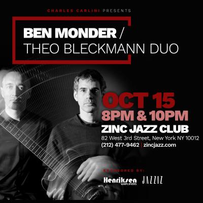 Guitar Masters Series: Ben Monder/theo Bleckmann Duo at Zinc Bar