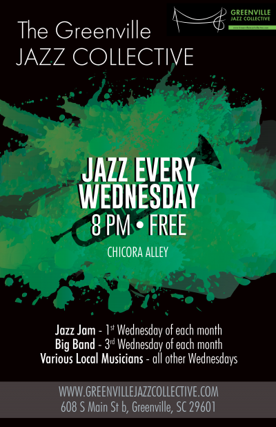 Greenville Jazz Collective Jazz Jam at Chicora Alley