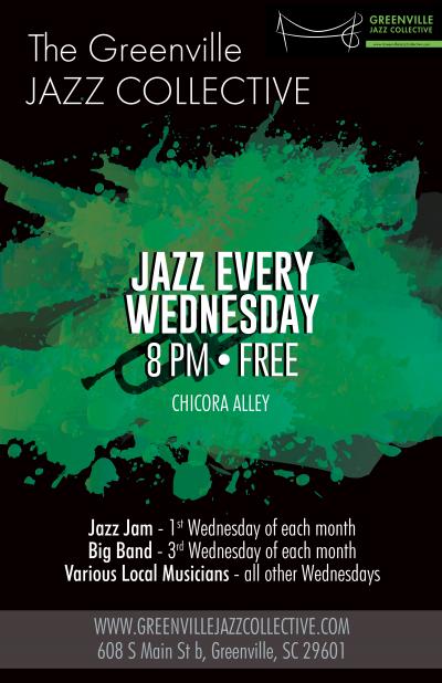 Greenville Jazz Collective Jazz Jam at Chicora Alley