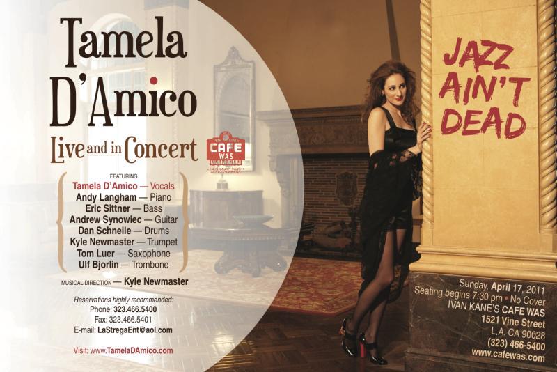Tamela D'Amico and her Septet Perform at Ivan Kane's Cafe Was on April 17