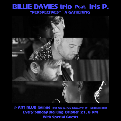 Billie Davies Trio Featuring Iris P. at Art Klub