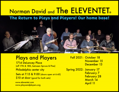Norman David And The Eleventet at Plays and Players