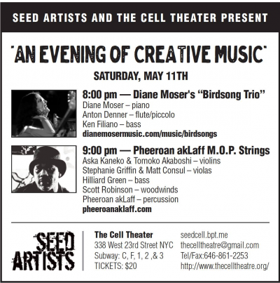 Pheeroan Aklaff M.o.p. Strings + Diane Moser's Birdsong Trio at The Cell