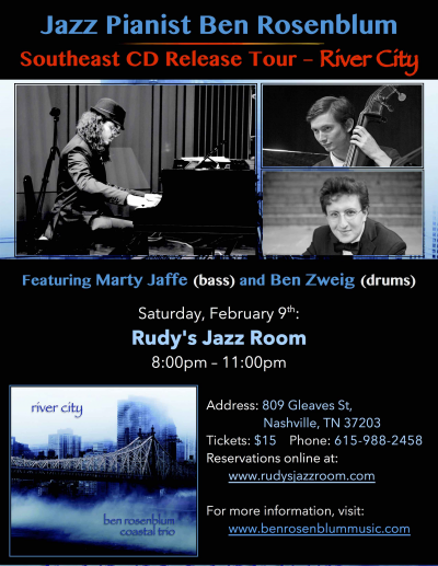 Ben Rosenblum Trio at Rudy's Jazz Room