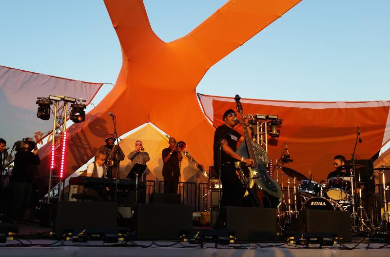 Miles Mosley and the West Coast Get Down at the Santa Monica Pier