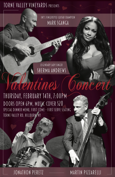 Mark Sganga Valentine Concert! at Torne Valley Vineyards