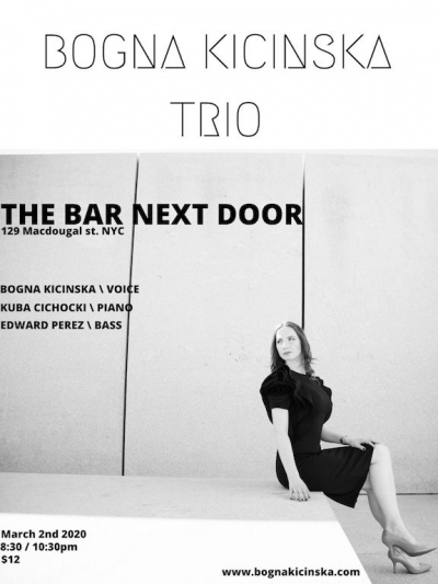 Bogna Kicinska Trio at Bar Next Door