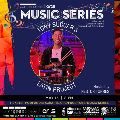 Tony Succar's Latin Project hosted by Nestor Torres (Virtual Concert) at Pompano Beach Cultural Center