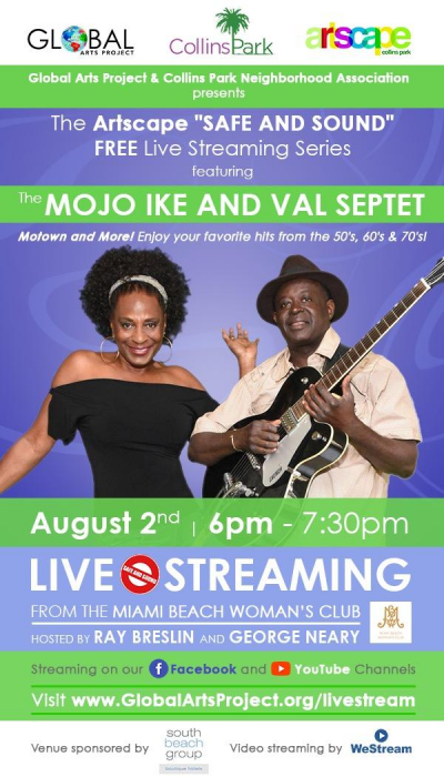 The Mojo Ike & Val Septet at Artscape Concert Series at Miami Beach Womans Club