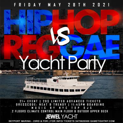 Mdw Nyc Hip Hop Vs Reggae® Nyc Sunset Cruise Skyport Marina Jewel Yacht at Skyport Marina