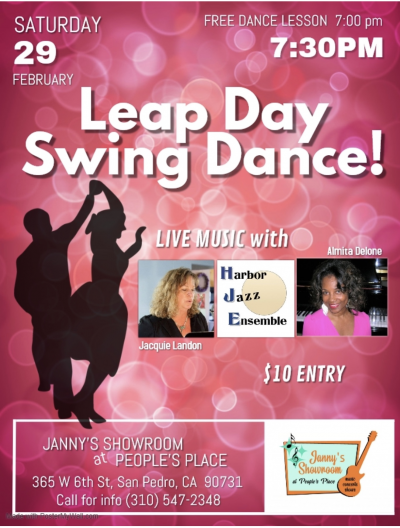 Leap Day Swing Dance at Janny's Showroom At People's Place