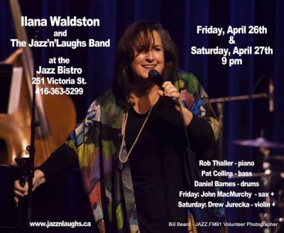 Ilana Waldston & The Jazz 'n' Laughs Band at Jazz Bistro