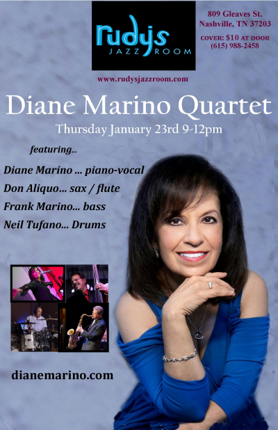 Diane Marino Quartet at Rudy's Jazz Room