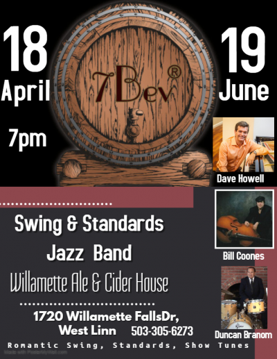 Swing & Standards Jazz Band  at Willamette Ale And Cider House