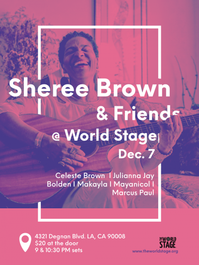 SHEREE BROWN & Friends • DwighTrible Presents at Autumn Jazz Concert Series + at The World Stage