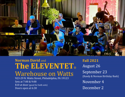 Norman David And The Eleventet at Warehouse On Watts