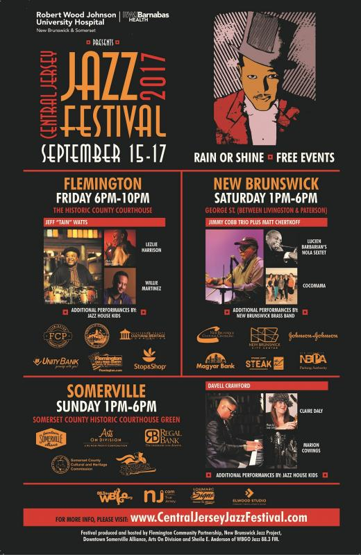 5th Annual Central Jersey Jazz Festival: September 15-17, 2017