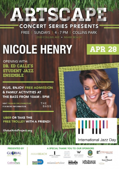 Nicole Henry In Collins Park April 28 Free at Artscape Concert Series at Collins Park