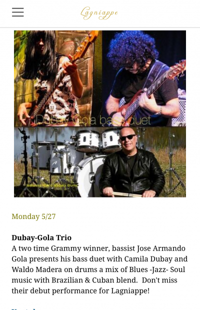 Dubay-gola Bass Duet  at Lagniappe House
