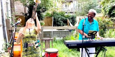 Duo Laroo/Byrd plays Valentine's Jazzkia's Sunday Feelgood Jazz at Balkonscenes @ Muse Mina