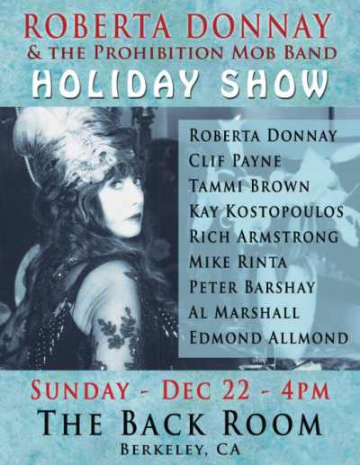 Roberta Donnay & The Prohibition Mob Band-holiday Show at The Back Room
