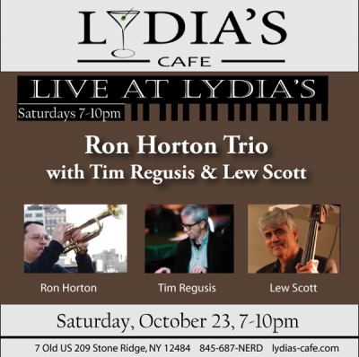 Duck & Cover - Featuring Ron Horton Trio & Our Crispy Duck at Live At Lydia's at Lydia's Cafe