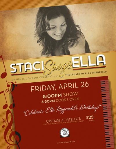 Staci Sings Ella Birthday Tribute at Feinstein's At Vitello's