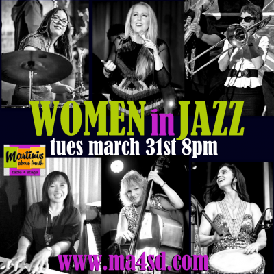 10th Annual Women In Jazz at Martini's Above 4th Table & Stage