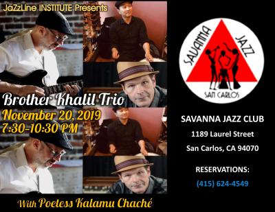 Brother Khalil Trio at Savanna Jazz