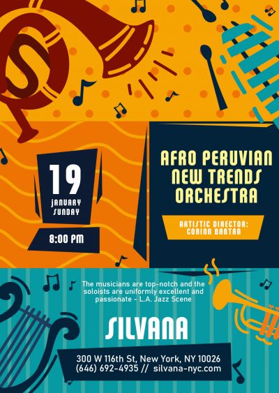 Afro Peruvian New Trends Orchestra With Corina Bartra at Silvana