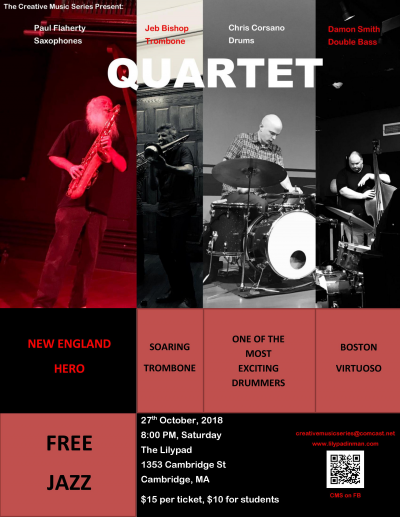 CANCELLED: Unrestricted, Unrehearsed And Creative Music Ala Free-jazz at Lilypad
