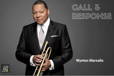 Living Jazz Presents: Call & Response: Wynton Marsalis, Moderator Andre Kimo Stone Guess, Host Frank Barrett at Living Jazz