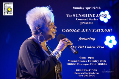 The Sunshine Jazz Concert Series Presents Carole Ann Taylor  at Miami Shores Country Club