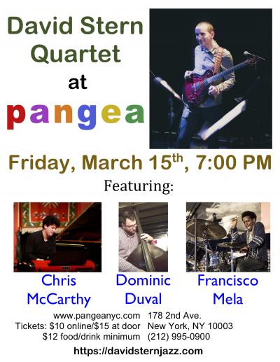 David Stern Quartet at Pangea