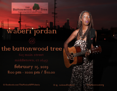 Waberi Jordan  at The Buttonwood Tree Performing Arts And Cultural Center