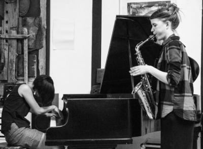Rieko Okuda meets Hanna Schörken + Didrik Ingvaldsen Berlin Quartett at Industriesalon Schöneweide
