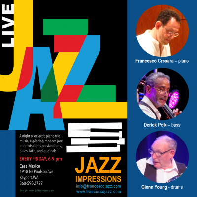 Jazz Impressions: Francesco Crosara, Derick Polk, Glenn Young at Casa Mexico