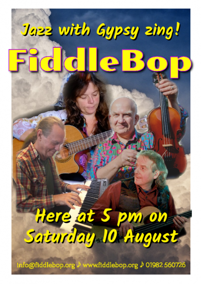 Fiddlebop at Pilgrim's Tearooms At Brecon Cathedral
