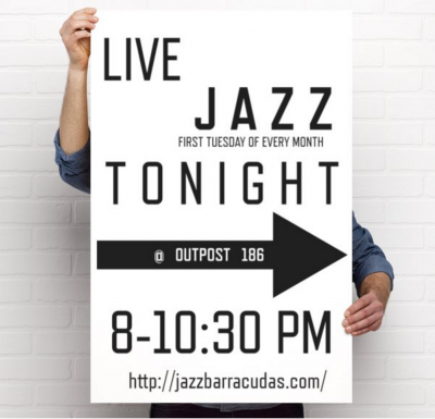 First Tuesdays Jazz Jam  House Band Special Guests: Blue Donut Safari! at Outpost 186