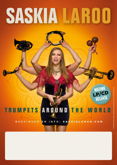 New album 'Trumpets Around The World' release by Saskia Laroo Band Ft Warren Byrd at The Buttonwood Tree Performing Arts And Cultural Center
