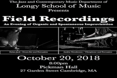 Field Recordings at Edward Pickman Concert Hall / Longy School Of Music