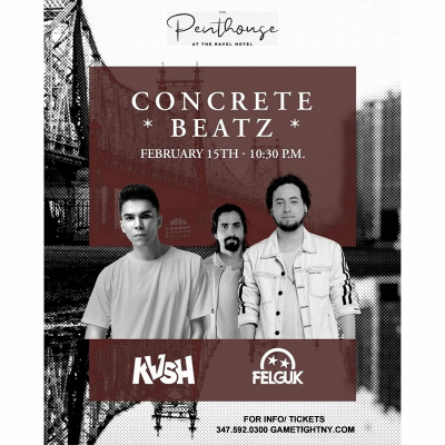 Concrete Beatz Featuring Kvsh + Felguk Live At The Penthouse 2020 at Penthouse808 Rooftop (ravel Hotel)
