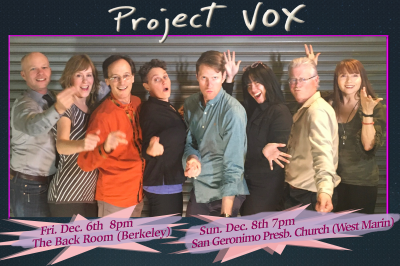 Project Vox  8-person Vocal Group at The Back Room