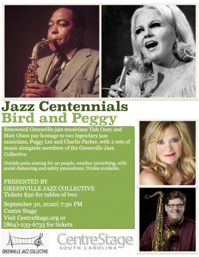 Jazz Centennials: Bird And Peggy Lee at Centre Stage