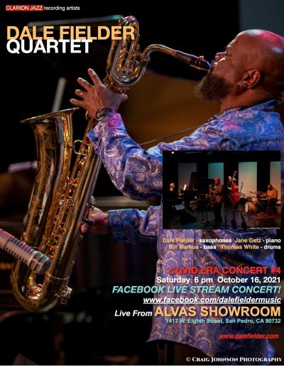 Dale Fielder Quartet Livestream @ Alvas Showroom at Alvas Showroom