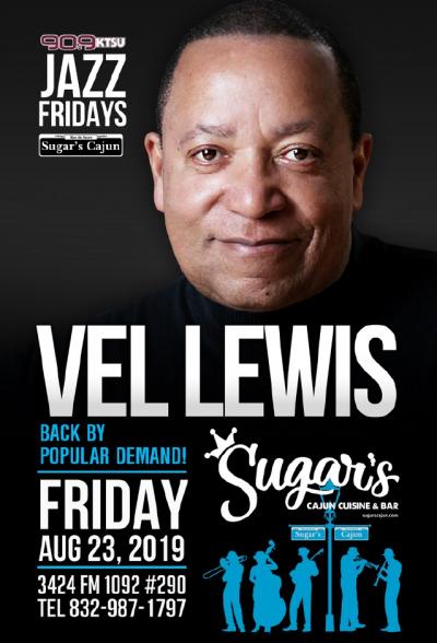 Vel Lewis at Sugar's Cajun Cuisine & Bar